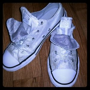 NEW CONVERSE SILVER SPARKLY ALL STAR CLASSIC